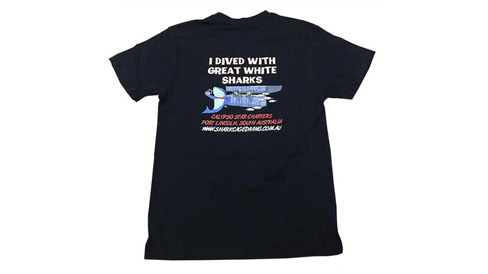 I dived with Great White Sharks T-shirt